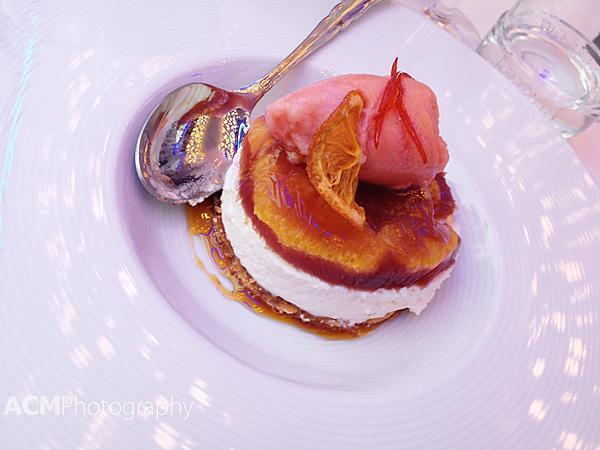 Blood orange and Sangria dessert