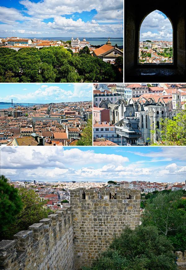 Views of Lisbon from the castle walls