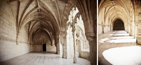 The beautiful arched cloister