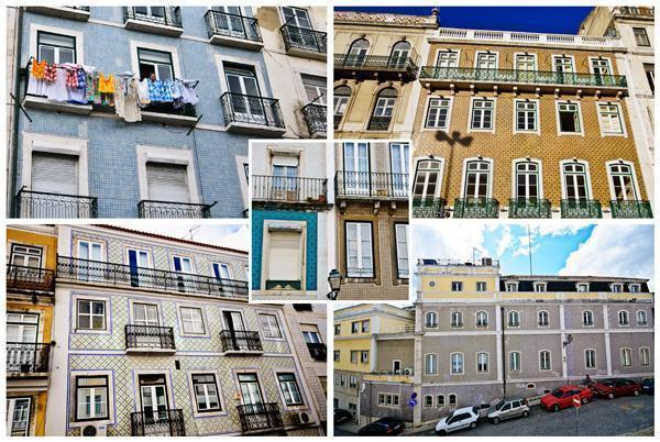 Houses throughout Lisbon are covered in azulejos, or tiles.