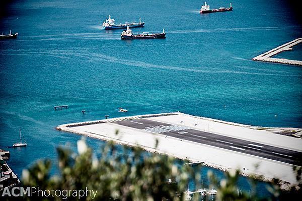 Airplane Landing in Gibraltar