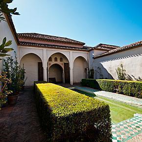 Patio garden of the 'Cuartos de Granada' at the Alcazaba of Malaga