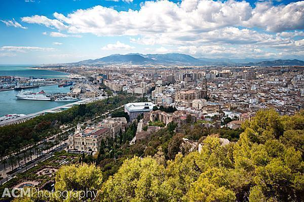 A commanding view of Malaga and Andalusia, all the way to Africa
