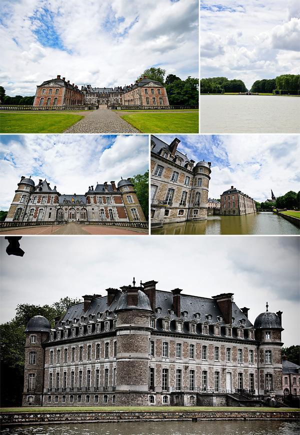 The front entrance of the Chateau de Beloeil
