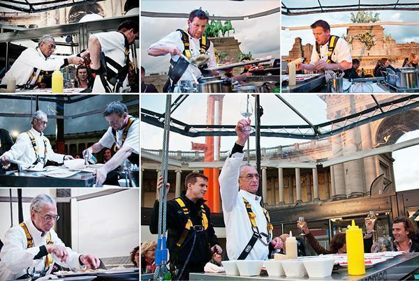 Chef Luigi Ciciriello toasts our culinary adventure