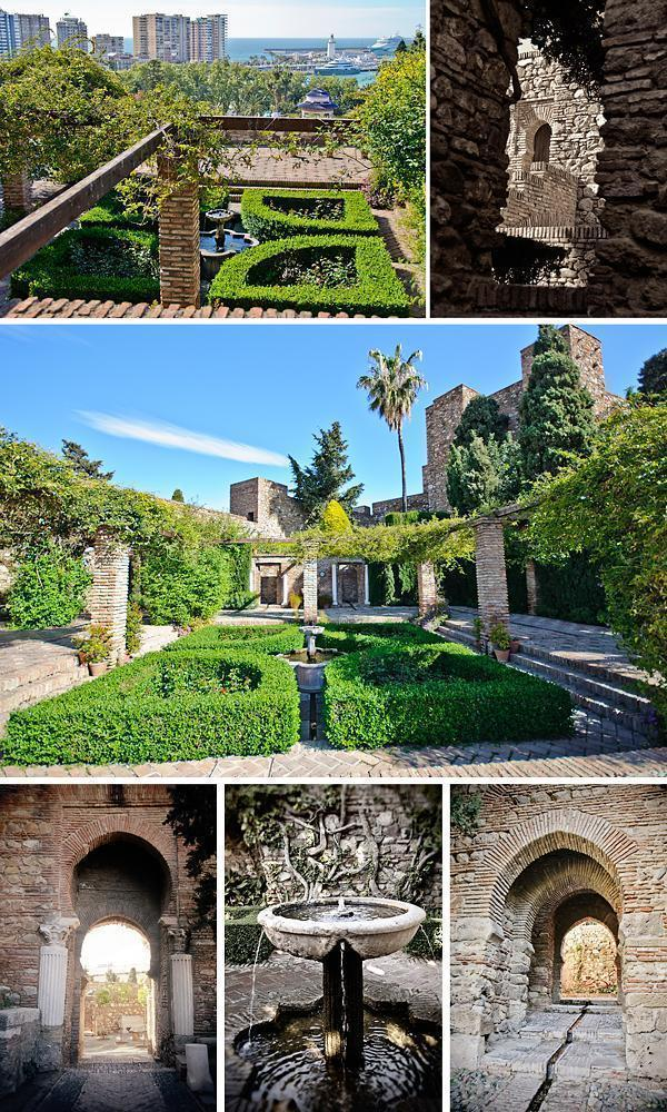 The Arches and Gardens of the Alcazaba