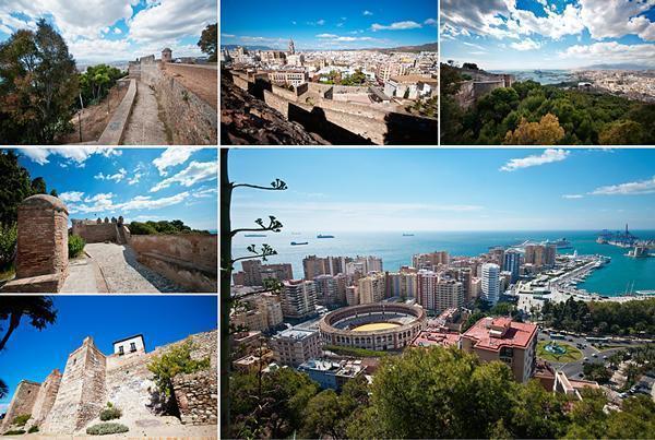 Gibralfaro Castle and the views of Malaga, Spain