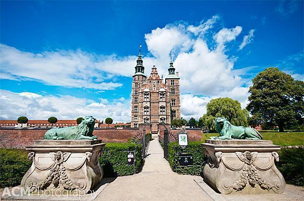 Rosenborg Castle from the lovely gardens in Copenhagen, Denmark