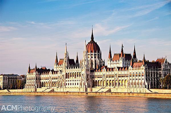 Hungarian Parliament buildings on the Danube in Budapest, Hungary
