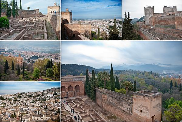 The Alcazaba - the military complex of the Alhambra