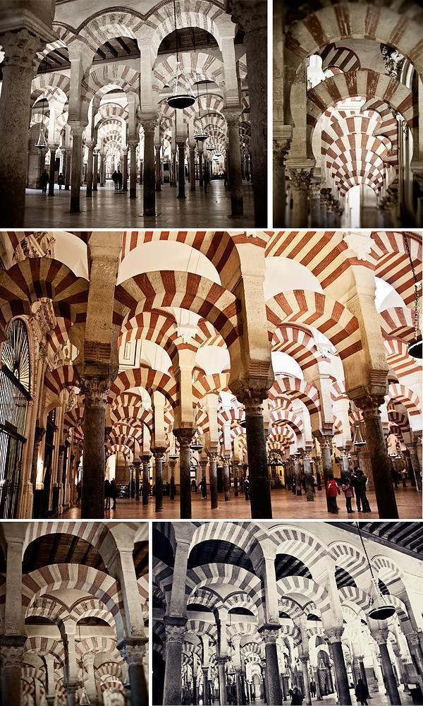 Columns and arches of the Hypostyle hall, Cathedral-Mosque Cordoba