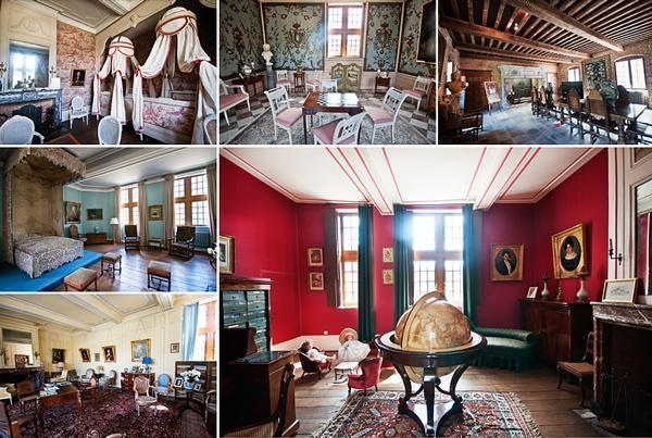 A selection of rooms you can visit in the Freyr Castle