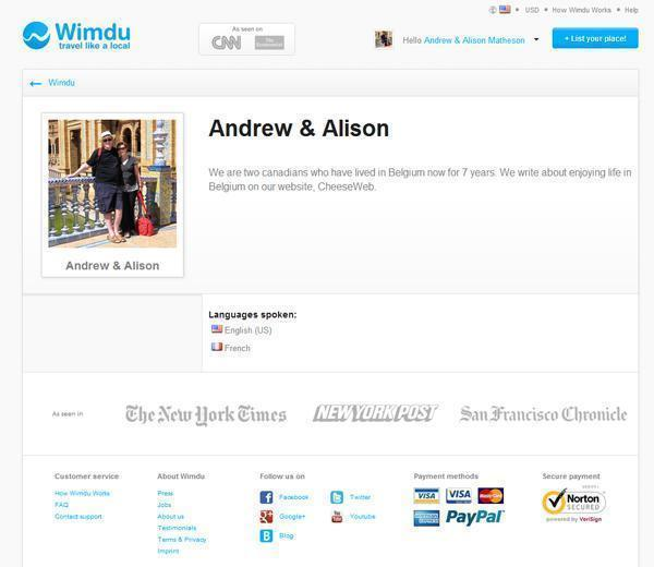 Our Wimdu Profile