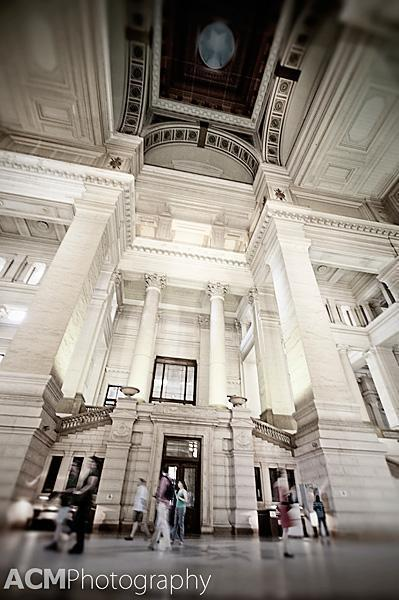 The main lobby of the Palace of Justice