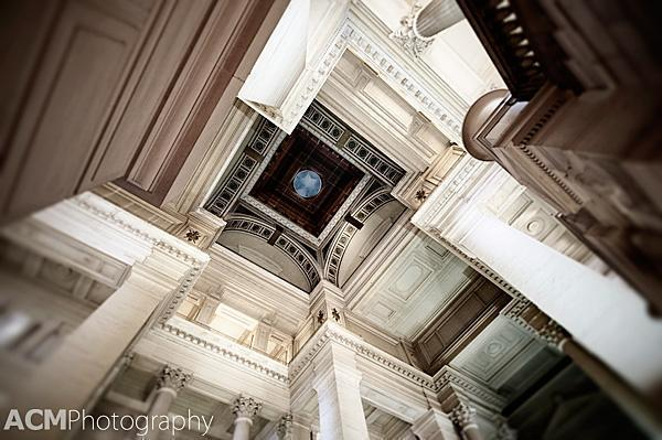 Inside the dome of the Palace of Justice, Brussels