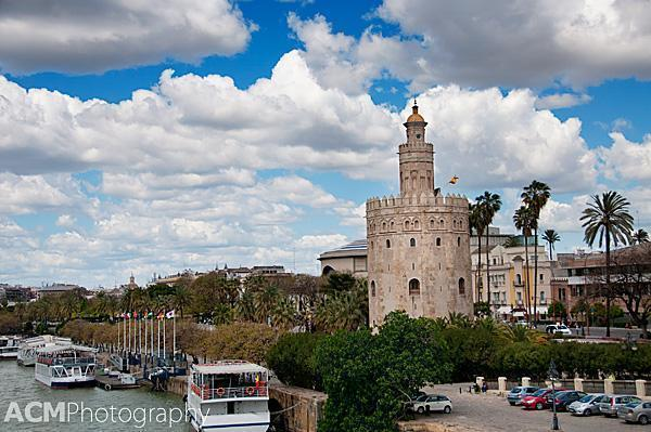 The Torre del Oro historically protected river access to Seville