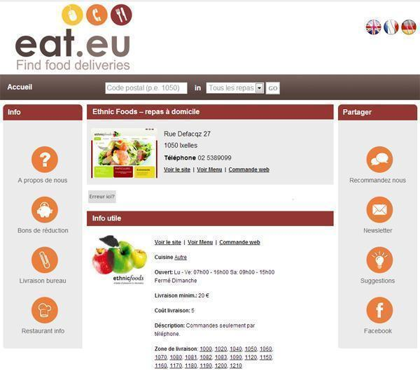 Eat.eu - Food delivery options in Brussels