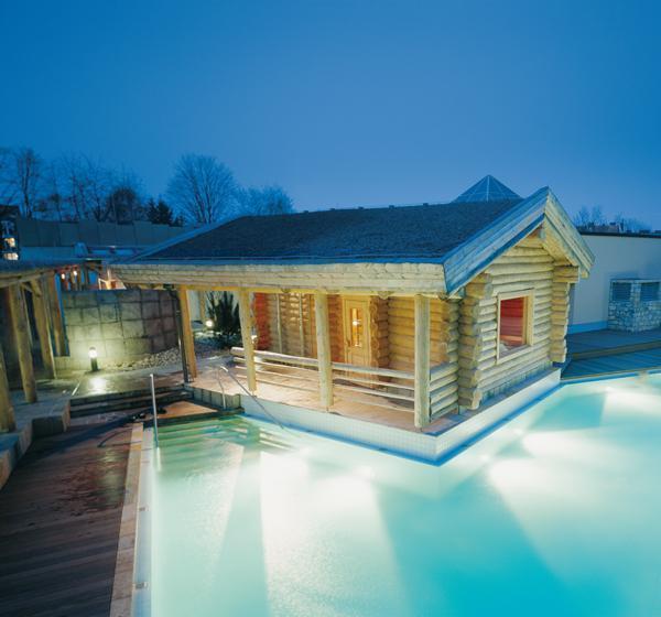 The lake sauna and sauna lake, Sauna World, Carolus Thermen