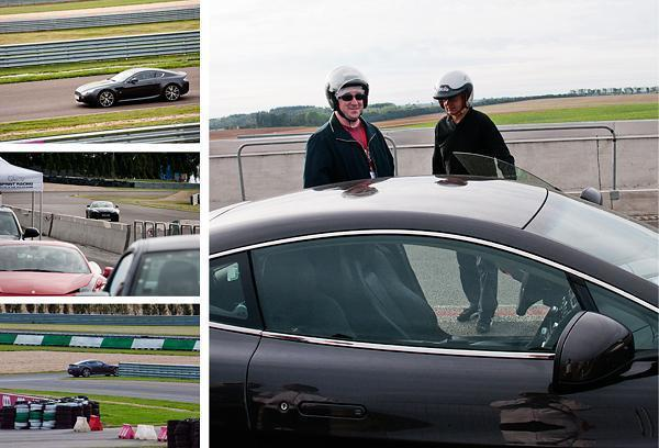 Andrew drives an Aston Martin