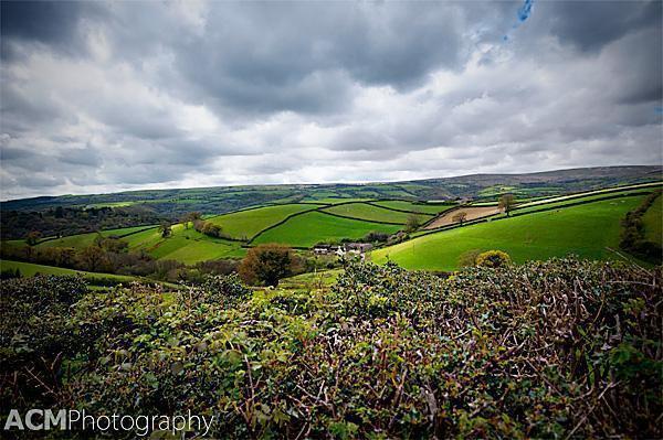 Rolling Landscape of Devon, UK