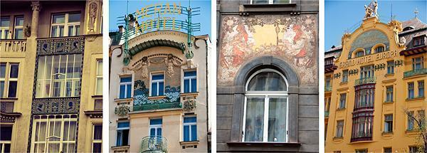 Some of Prague's colourful architecture