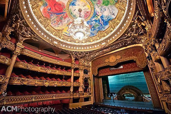 Marc Chagall ceiling in the Paris Opera