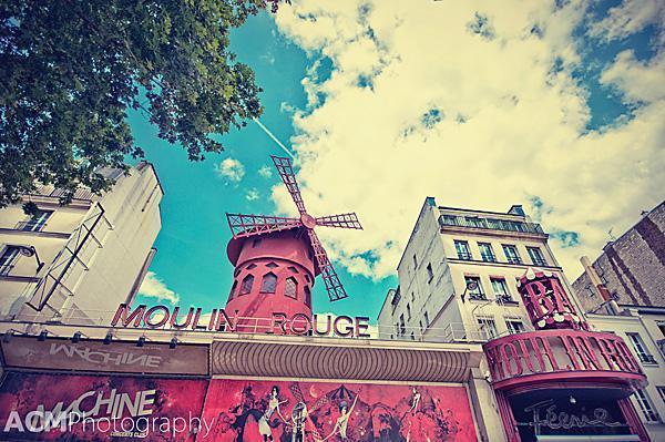 The Moulin Rouge, Montmartre, Paris
