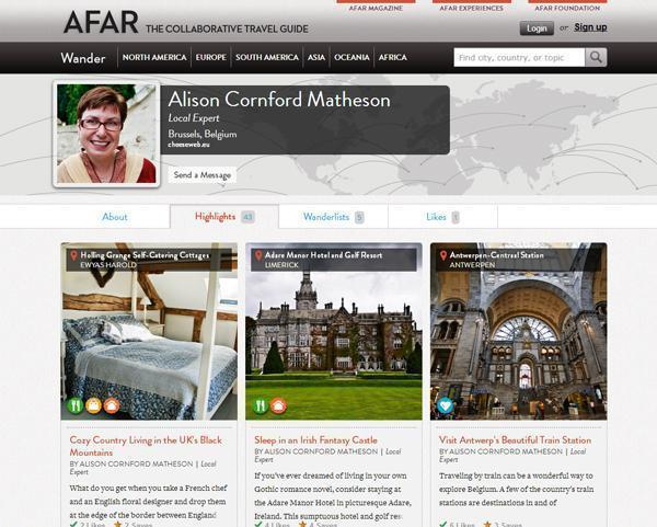 AFAR 3 Travel Planning with AFAR Wanderlists