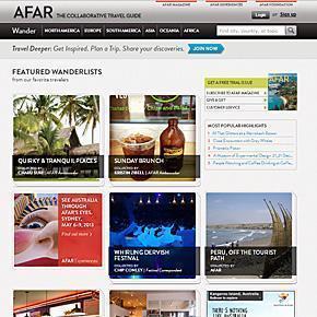 AFAR.com Homepage