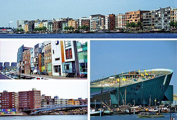 Java Island and Nemo; modern architecture in Amsterdam