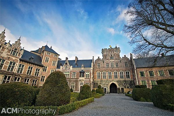 The interior courtyard of Gaasbeek Castle