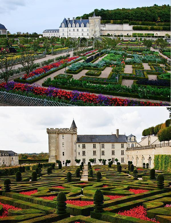 The extensive formal gardens of Villandry