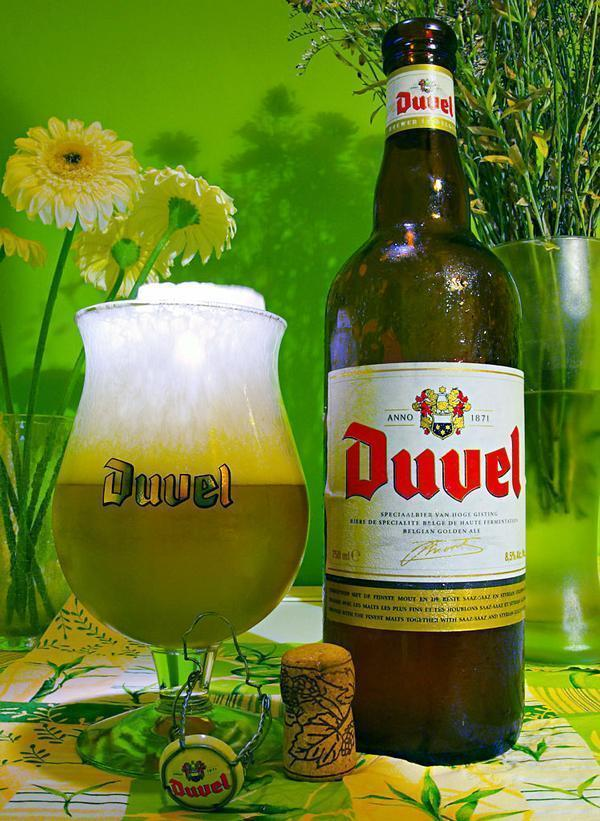 Duvel is an easy to find Belgian Blond Ale, great for enjoying on a sunny terrace