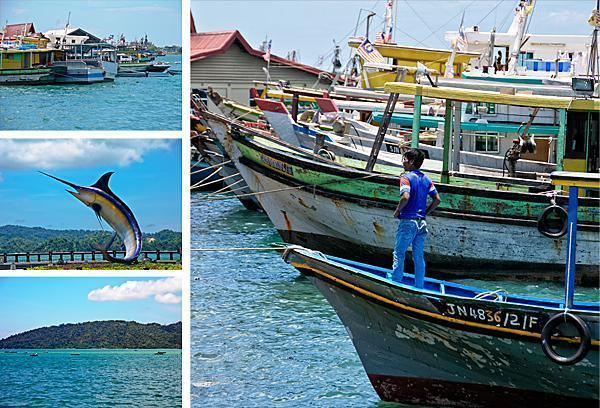 KK's busy and colourful waterfront