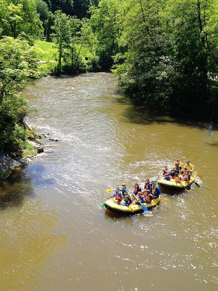 Rafting on the River Ourthe