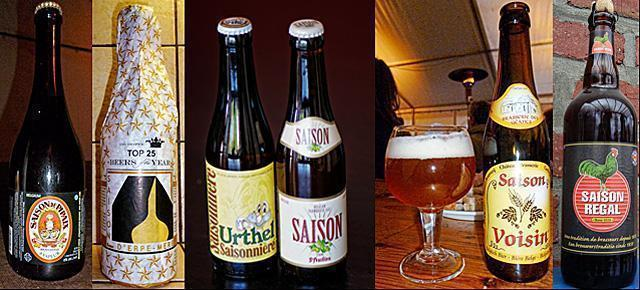 A variety of Belgian Saison Beer