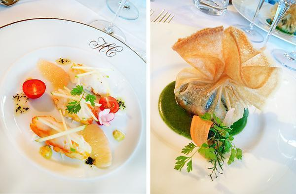 First and second courses at Le Berthier restaurant