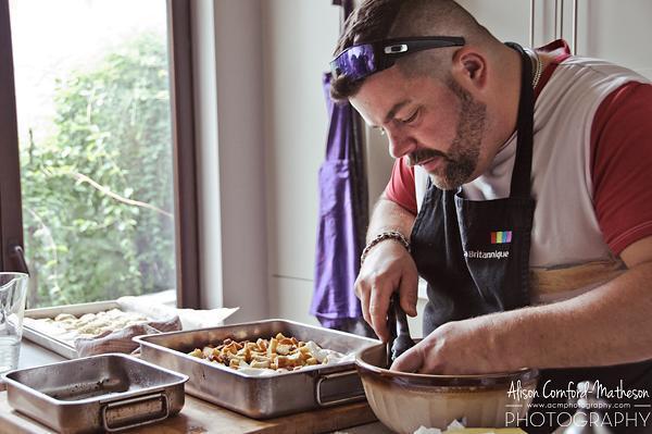 Chef Alex at work in his kitchen