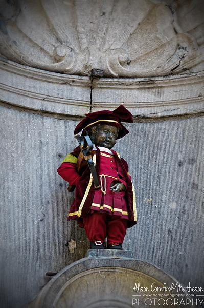 Even Manneken Pis is a crossbowman, once a year