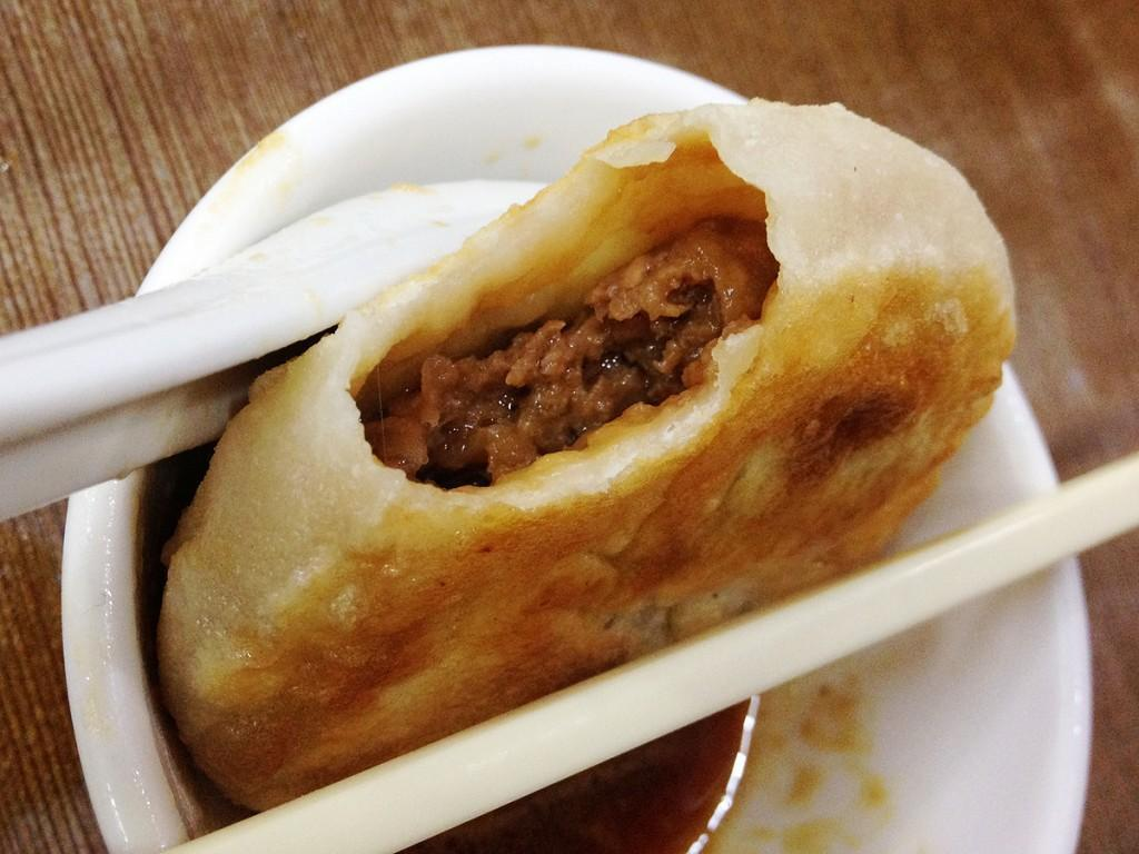 The Juicy Beef Cake at Islam Food in Kowloon, Hong Kong
