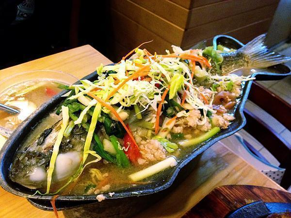 This steamed fish was also divine