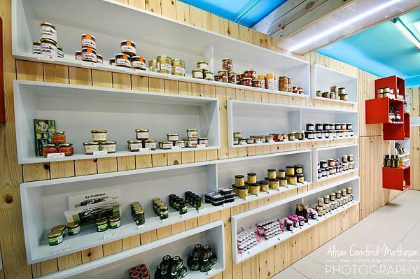 Inside the bio organic shop Le Fraysse in Brussels