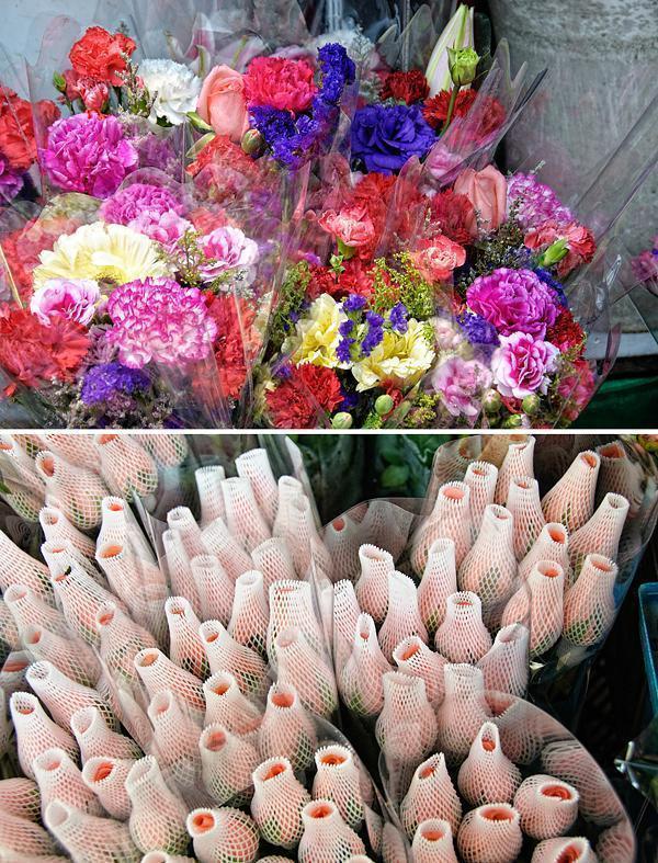 Fresh cut flowers in Hong Kong