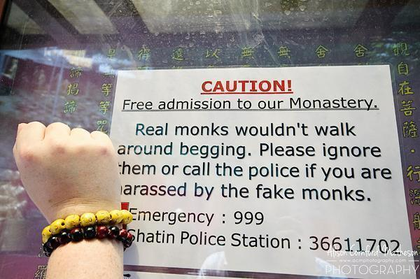 Warning: Fake Monks