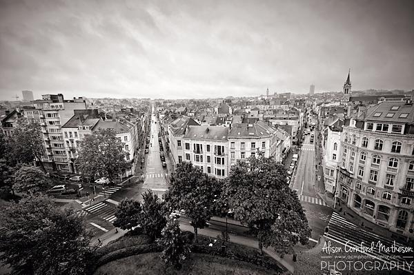 St. Gilles from the roof of the Porte de Hal