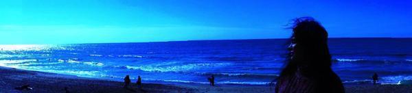 Shanthi enjoys the Belgian coast
