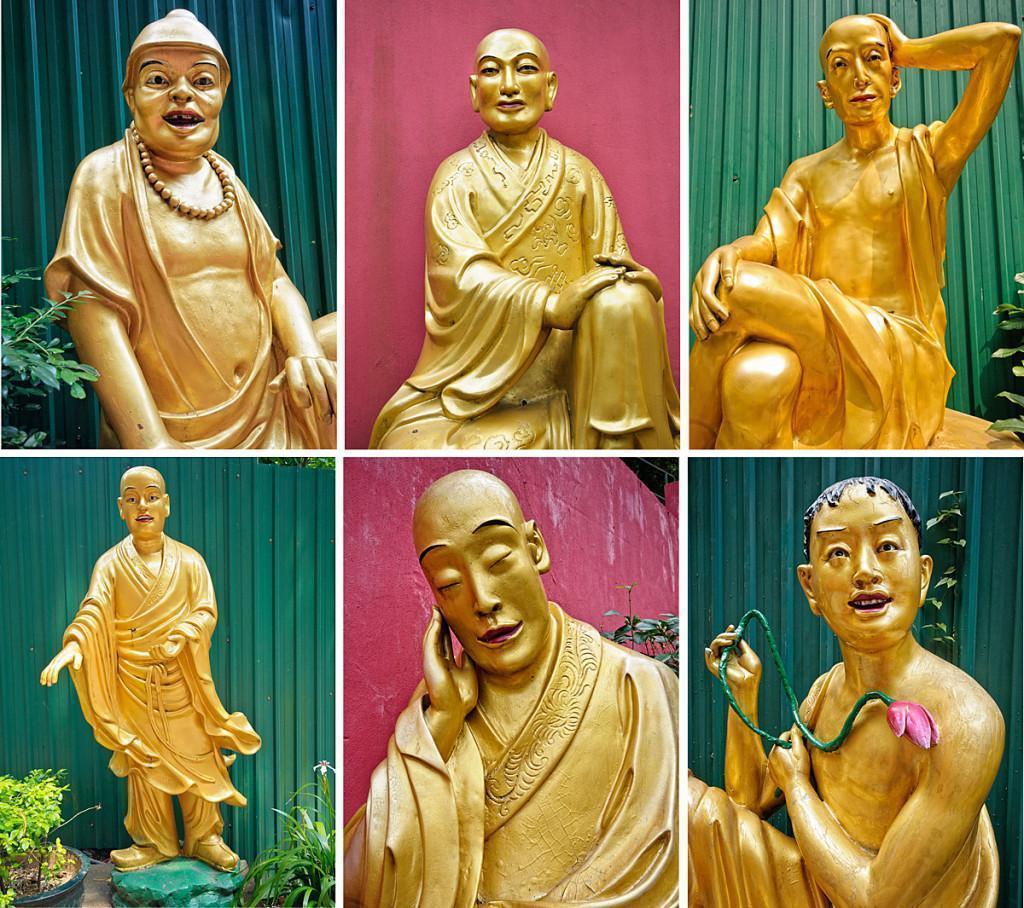 Buddhas of all description...