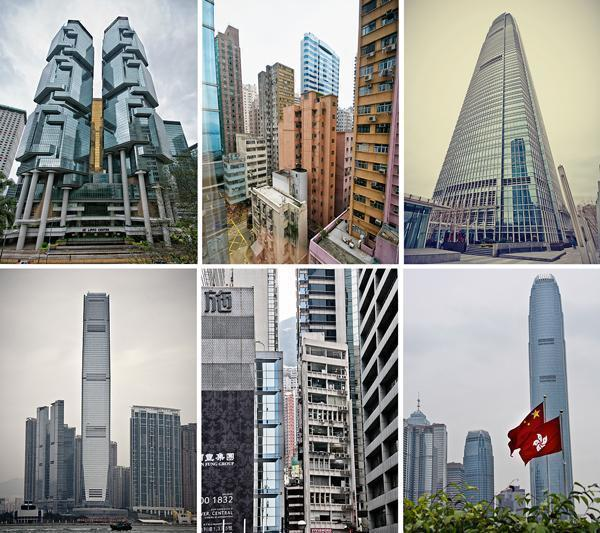 Some of Hong Kong's tallest buildings.