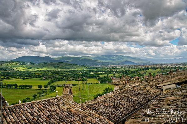 Who can argue with this rooftop terrace view of Umbria?