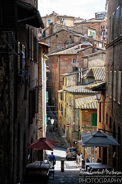 The beautiful streets of Siena, Tuscany